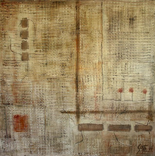 Tableau Contemporain, Trame (6). Sophie Costa, artiste peintre.