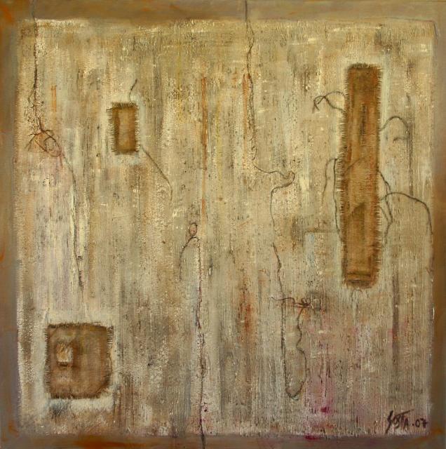 Tableau Contemporain, Trame (7). Sophie Costa, artiste peintre.