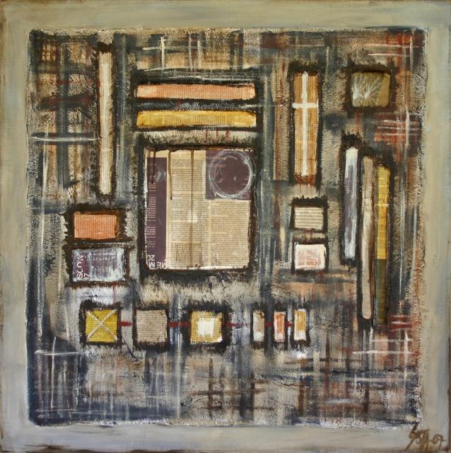 Tableau Contemporain, Library. Sophie Costa, artiste peintre.