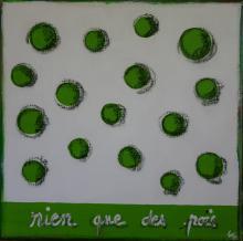 Tableau Rien que des pois : Artiste peintre Sophie Costa