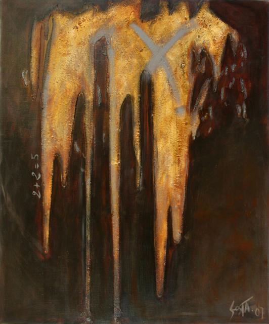 Tableau Contemporain, 2+2=5. Sophie Costa, artiste peintre.