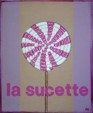 Tableau La sucette : Artiste peintre Sophie Costa