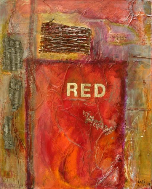 Tableau Contemporain, RED. Sophie Costa, artiste peintre.