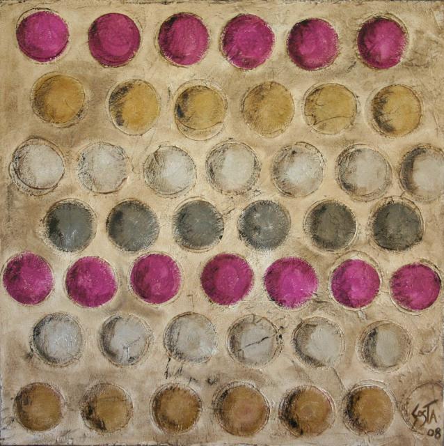 Tableau Contemporain, Disks 02. Sophie Costa, artiste peintre.