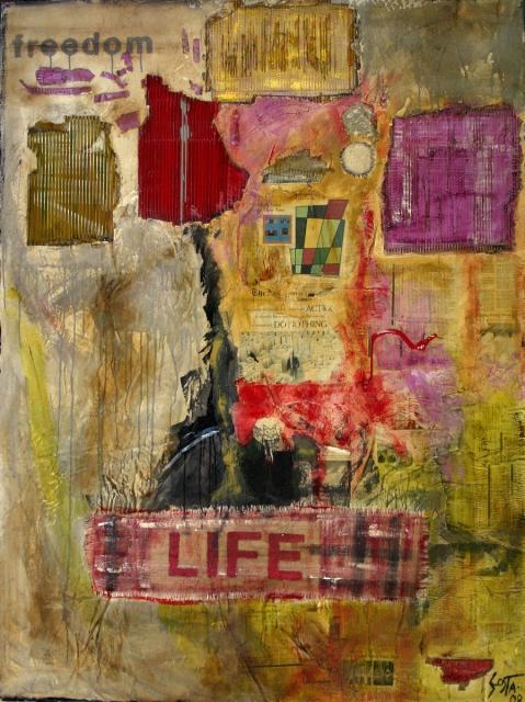 Tableau Contemporain, LIFE 03. Sophie Costa, artiste peintre.