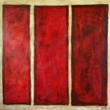 Tableau abstrait Rouge 03