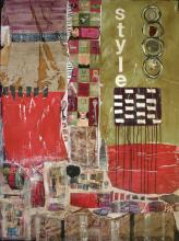 Tableau contemporain abstrait collage : Style
