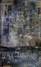 Toile abstraite noire, Black painting 3