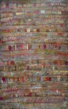 Tableau abstrait matière tissus, Tweed