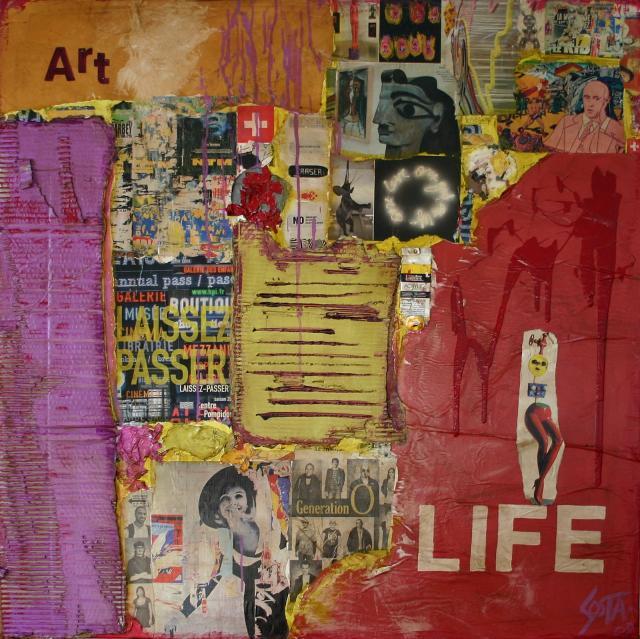 art life tableau de sophie costa artiste peintre sophie costa. Black Bedroom Furniture Sets. Home Design Ideas