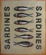 Tableau Six Sardines : Artiste peintre Sophie Costa