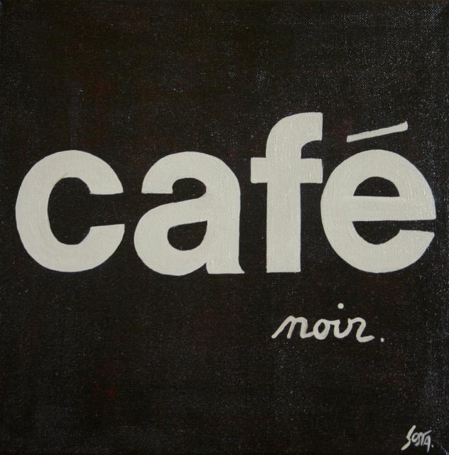 Tableau Contemporain, CAFE noir. Sophie Costa, artiste peintre.