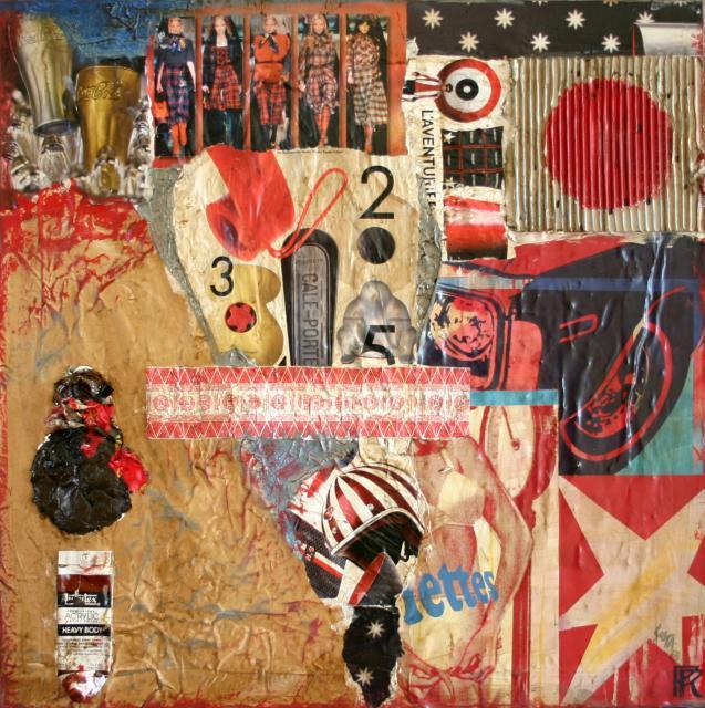 Tableau Contemporain, L'aventurier. Sophie Costa, artiste peintre.