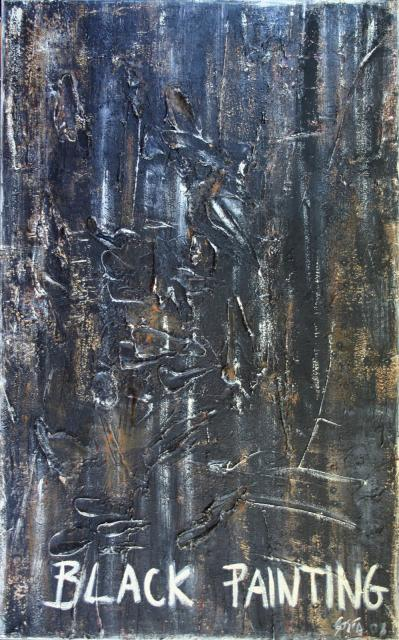 Tableau Contemporain, BLACK PAINTING 2. Sophie Costa, artiste peintre.