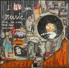 Tableau I LOVE YOU D. : Artiste peintre Sophie Costa