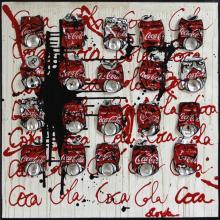 Tableau Coca Cola : Artiste peintre Sophie Costa