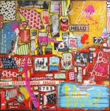 Tableau Be yourself, Be free ! : Artiste peintre Sophie Costa