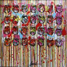 Tableau Don't worry, be happy ! : Artiste peintre Sophie Costa