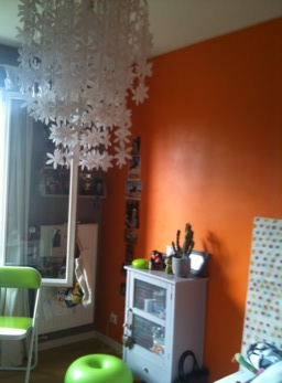 décoration chambre orange