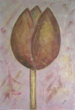 Tableau Tulipe bronze : Artiste peintre Sophie Costa