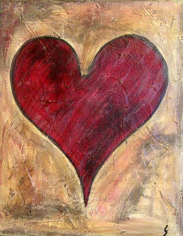Tableau Contemporain, As de coeur. Sophie Costa, artiste peintre.