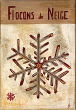 Tableau Flocons de neige gris : Artiste peintre Sophie Costa