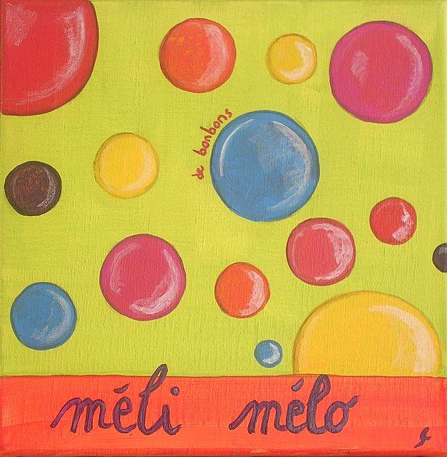 Tableau Contemporain, Méli mélo vert. Sophie Costa, artiste peintre.