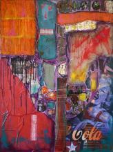 Tableau abstrait coloré urbain, No Name