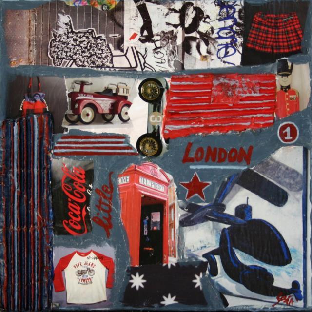 Tableau Contemporain, little LONDON. Sophie Costa, artiste peintre.