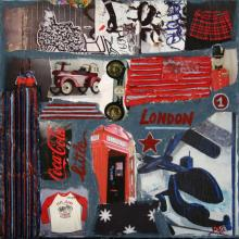 Tableau little LONDON : Artiste peintre Sophie Costa