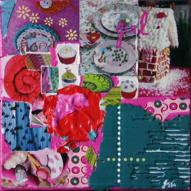 Tableau Contemporain, Girl. Sophie Costa, artiste peintre.