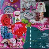 Tableau collage enfant, Girl13