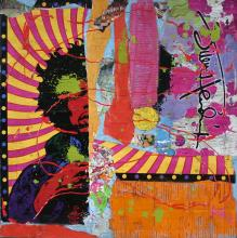 Tableau collage pop seventies, J.H 2