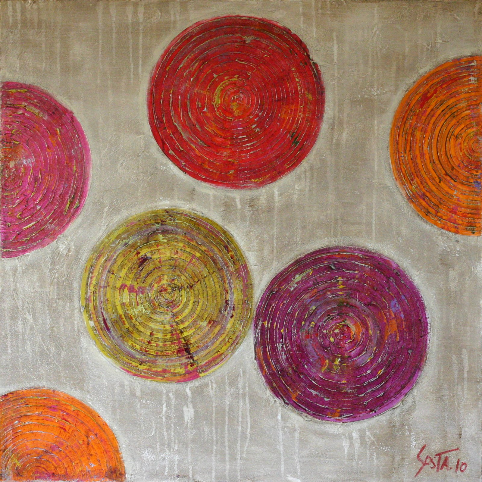 Tableau Contemporain, Microsillons 03. Sophie Costa, artiste peintre.