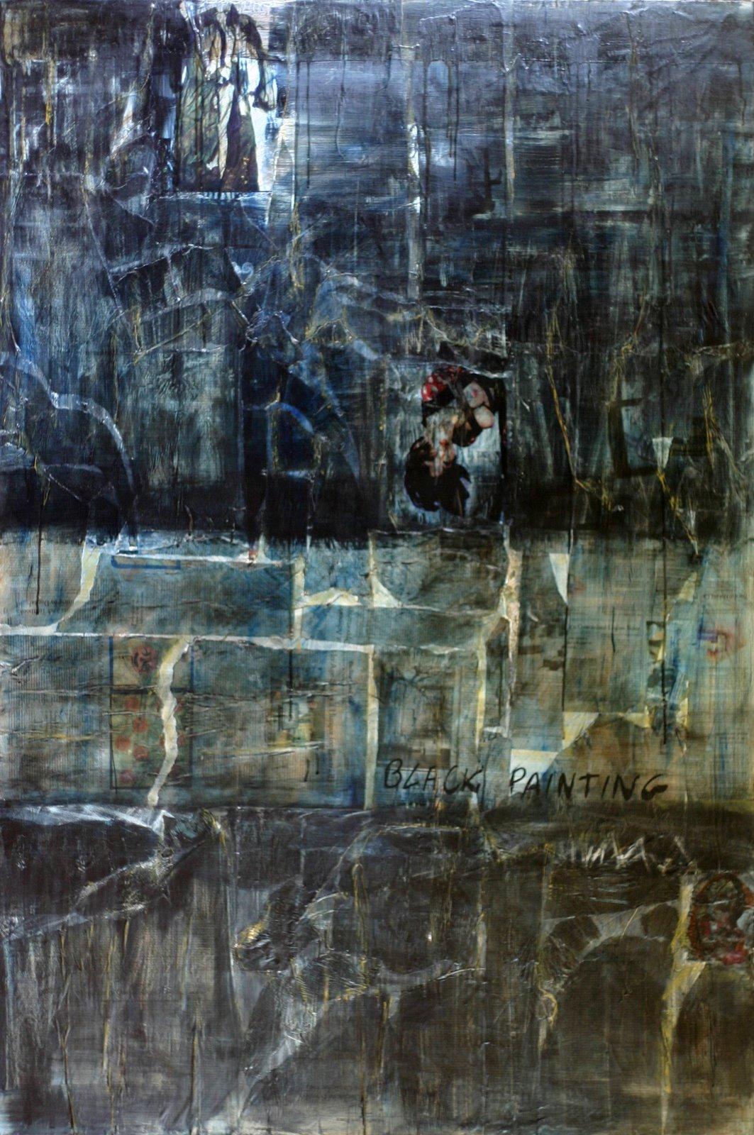 Tableau Contemporain, Black Painting 4. Sophie Costa, artiste peintre.