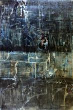 Tableau abstrait Noir Grand format, Black Painting