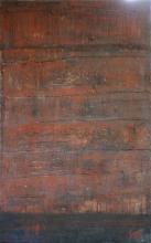 Tableau abstrait contemporain couleur rouille, Cargo