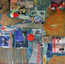 Grand tableau contemporain collage, Personal