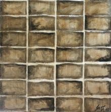 Toile abstraite collage