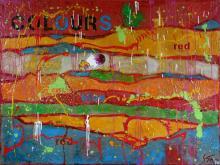 Tableau abstrait coloré grand format, COLOURS