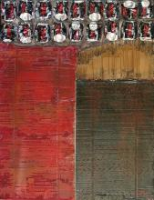Tableau abstrait,coca cola, Waste Art