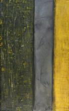 Tableau abstrait gris jaune, Solitude