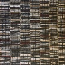 Tableau abstrait contemporain masculin, rayures, Design 2