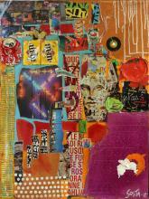 Tableau abstrait urbain contemporain, Hot1
