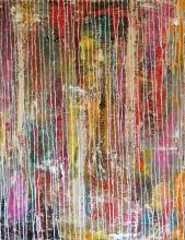 Tableau abstrait coloré, Summer