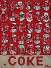Coke, un tableau abstrait rouge