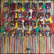 Tableau SMILE : Artiste peintre Sophie Costa