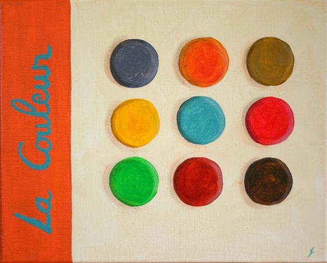 Tableau Contemporain, La couleur #3. Sophie Costa, artiste peintre.
