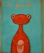Tableau La grenouille orange : Artiste peintre Sophie Costa