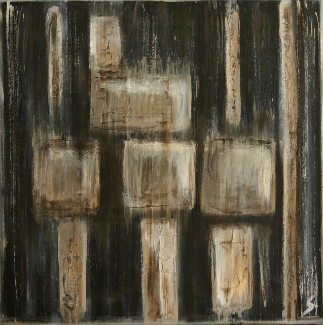 Tableau Contemporain, Série Polar (2). Sophie Costa, artiste peintre.